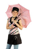 детеныши зонтика девушки Стоковое Изображение