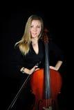 детеныши портрета виолончелиста Стоковое Изображение RF