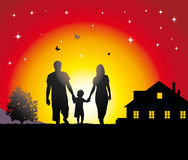 детеныши семьи Стоковое Изображение