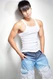 детеныши съемки китайского человека способа мышечные Стоковое фото RF