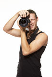 детеныши фотографа камеры Стоковые Изображения