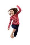 детеныши девушки скача Стоковые Изображения RF