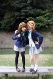 детеныши cosplayers японские Стоковые Изображения