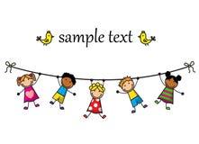Дети вися на веревочке Стоковое Фото