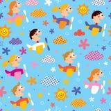 Дети в картине самолетов Стоковые Фотографии RF