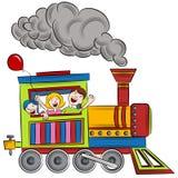 Дети езды поезда Стоковое Фото