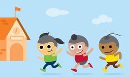 Дети идя назад к школе Стоковые Фото