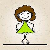 Дети конспекта шаржа чертежа руки счастливые Стоковые Изображения RF