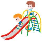 Дети на скольжении Стоковая Фотография RF