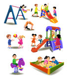 Дети на спортивной площадке Стоковые Изображения RF
