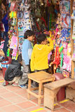 Дети на стойке игрушки в Banos, эквадоре Стоковые Фотографии RF