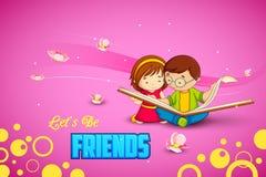 Дети празднуя день приятельства Стоковые Изображения RF