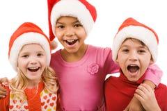 дети радостные Стоковые Изображения