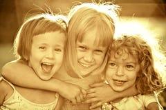 дети счастливые Стоковая Фотография RF
