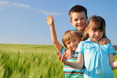 дети счастливые Стоковые Изображения