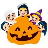 Дети тыквы хеллоуина Стоковое Изображение RF