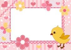 дети цыпленка обрамляют фото s Стоковая Фотография