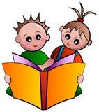 Дети чтения Стоковое Фото