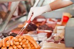 деятельность магазина butcher s Стоковые Фотографии RF