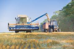 Деятельность жатки зернокомбайна Стоковое Изображение