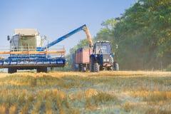 Деятельность жатки зернокомбайна Стоковые Изображения