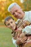 Дед и внук Стоковые Изображения