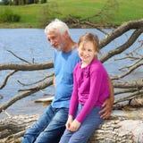 Дед и внучка Стоковая Фотография