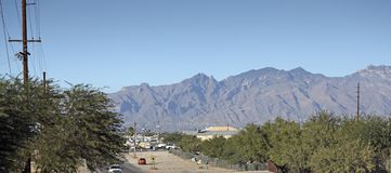 Дело и жилой южный Tucson, AZ Стоковая Фотография RF