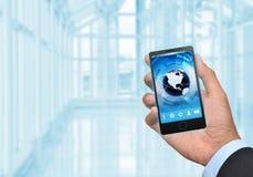 Дело и умный телефон 03 Стоковая Фотография