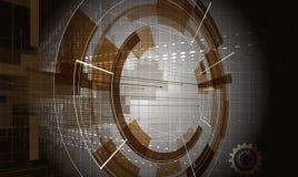 Дело & развитие предпосылки абстрактной технологии Стоковое Фото