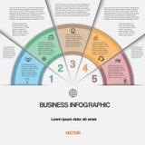 Дело infographic для проекта успеха и другого вашего варианта Стоковое Изображение RF