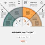 Дело infographic для проекта успеха и другого вашего варианта Стоковая Фотография
