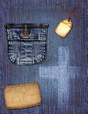 джинсовая ткань коллажа Стоковые Фотографии RF