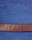 джинсыы ткани джинсовой ткани Стоковые Изображения