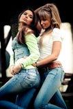 джинсыы девушок Стоковое Фото