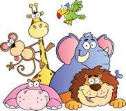 джунгли иллюстрации животных Стоковые Фотографии RF