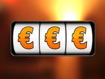 джэкпот евро Стоковое фото RF
