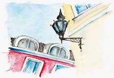 Диагонали старого городка Стоковые Изображения