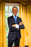Диаграмма воска Barack Obama на Мадам Tussauds Сан-Франциско Стоковая Фотография