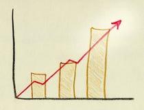 диаграмма в виде вертикальных полос Стоковое фото RF