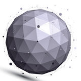 Диаграмма геометрического контраста сферически с ячеистой сетью Стоковые Фотографии RF