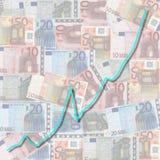 диаграмма евро валюты Стоковые Изображения RF