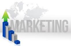 Диаграмма маркетинга Стоковые Фото