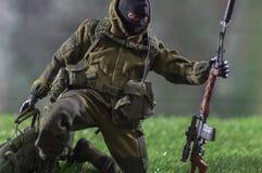 Диаграмма миниатюрное реалистическое солдата человека игрушки Стоковая Фотография RF