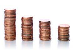 диаграмма монетки Стоковая Фотография