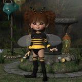 Диаграмма Мультяшки - пчела Стоковые Изображения