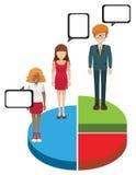 Диаграмма пирога с людьми Стоковое Изображение