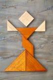 Диаграмма танцора Tangram Стоковая Фотография RF