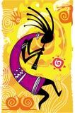 диаграмма kokopelli танцы Стоковая Фотография RF