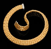 диаманты браслета золотистые Стоковое Фото